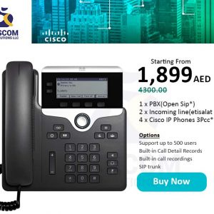 Get your Cisco ip telephony with Open sip starting from 1899 aed